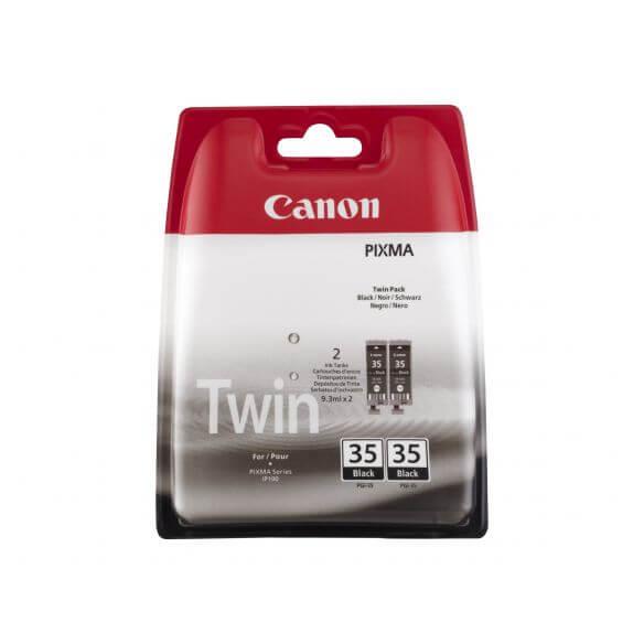 Consommable Canon PGI-35 Twin Pack - pack de 2 - noir - originale - réservoir d'encre
