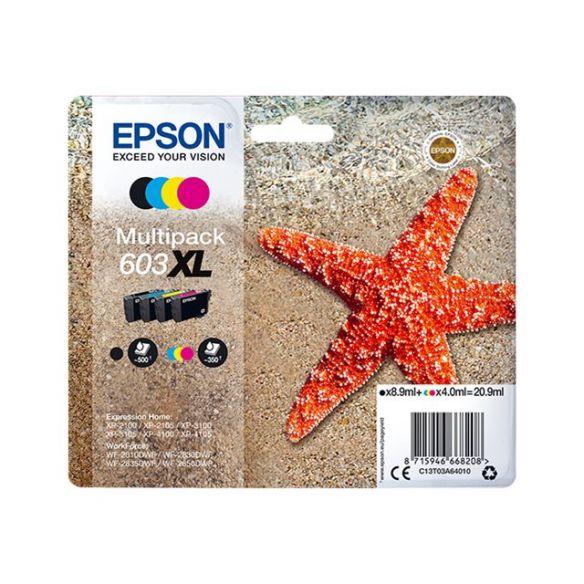 Epson 603XL Multipack - pack de 4 - XL - noir, jaune, cyan, magenta cartouche d'encre d'origine