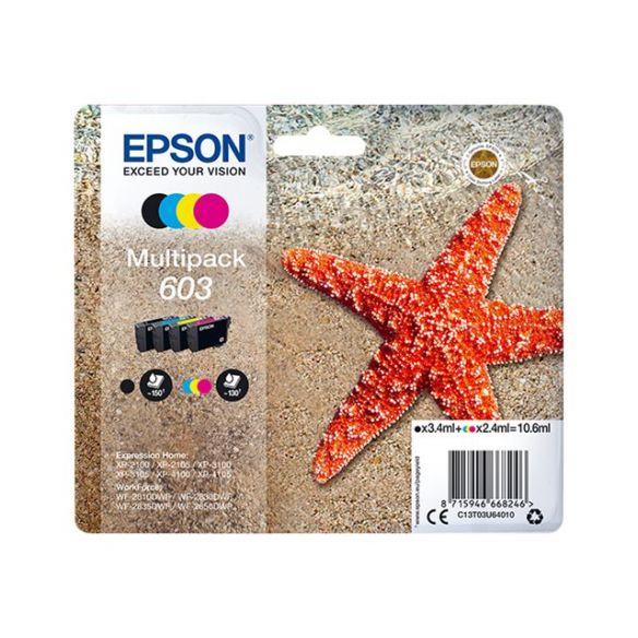 Epson 603 Multipack - pack de 4 - noir, jaune, cyan, magenta d'origine cartouche d'encre