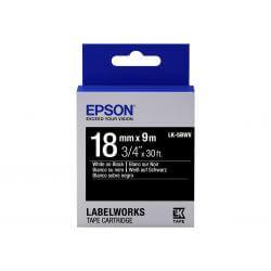 Epson LabelWorks LK-5BWV - bande d'étiquettes - 1 rouleau(x) - Rouleau (1,8 cm x 9 m)