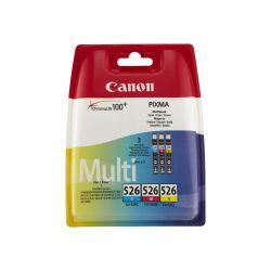 Canon CLI-526 Multipack - pack de 3 - jaune, cyan, magenta réservoir d'encre d'origine