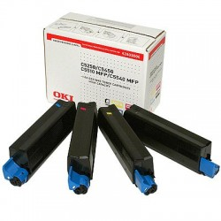 OKI Toner Rainbow Kit 5000 pages C5250/C5450/C5500/C5510MFP/C5540MFP