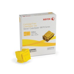 Xerox Encre ColorQube 8870/8880, Jaune (6 bâtonnets 17300 pages) 108R00956