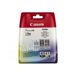 canon pg-40 / cl-41 multi pack - pack de 2 - noir, couleur (cyan, magenta, jaune) - originale - réservoir d'encre