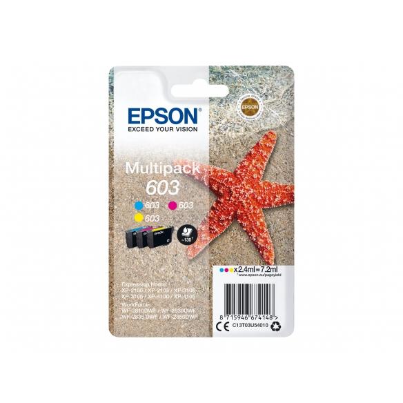 Epson 603 Multipack - pack de 3 - jaune, cyan, magenta d'origine cartouche d'encre