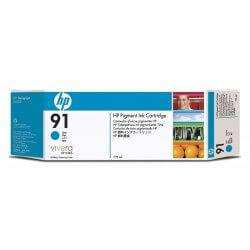 HP Cartouche d'encre à pigments cyan 91 775ml