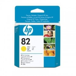 HP Cartouche d'encre jaune HP82 28ml