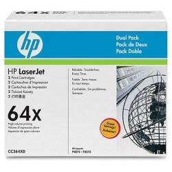 HP CC364XD Lot de 2 Cartouches de toner LaserJet 64X Noir 48000 pages