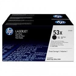 HP Q7553XD Lot de 2 Cartouches de toner haute capacité LaserJet 53X Noir 7000 pages