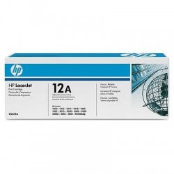 HP Q2612AD Lot de 2 Cartouches de toner LaserJet 12A Noir 2000 pages