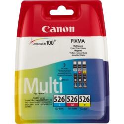 canon cli-526 c/m/y multi pack - pack de 3 - jaune, cyan, magenta - originale - réservoir d'encre