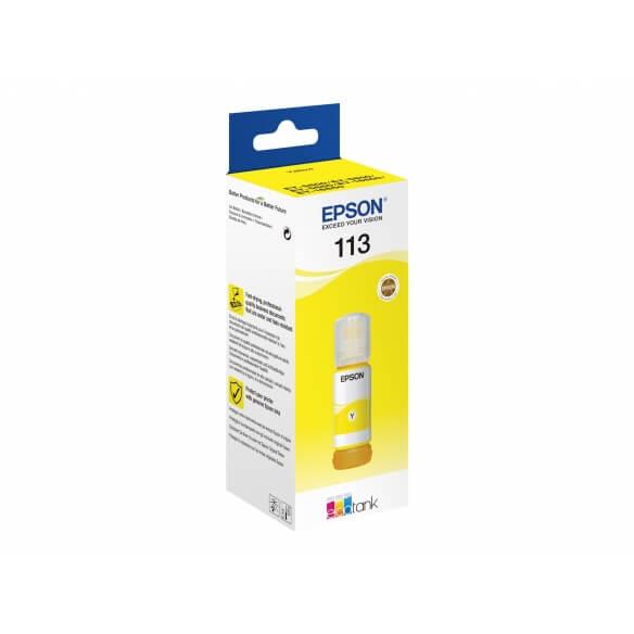 Flacon d'encre jaune série 113 Epson Ecotank (70 ml) d'origine