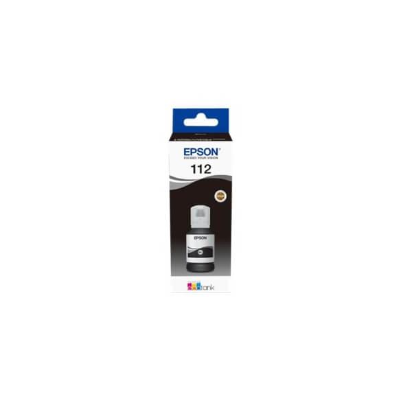 Flacon d'encre noire série 112 Epson Ecotank (127 ml) d'origine