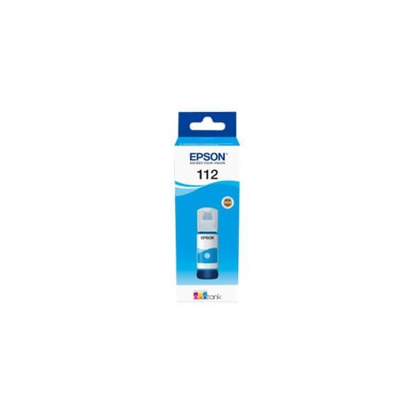 Flacon d'encre cyan série 112 Epson Ecotank (70 ml) d'origine