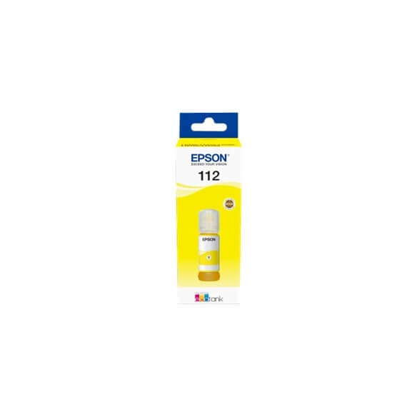Flacon d'encre jaune série 112 Epson Ecotank (70 ml) d'origine