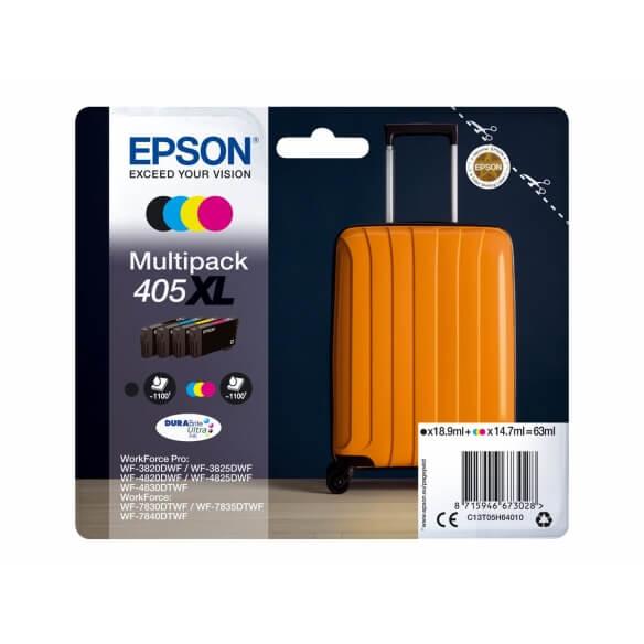 Epson 405XL Multipack 4 couleur haute capacité d'origine 1100 pages