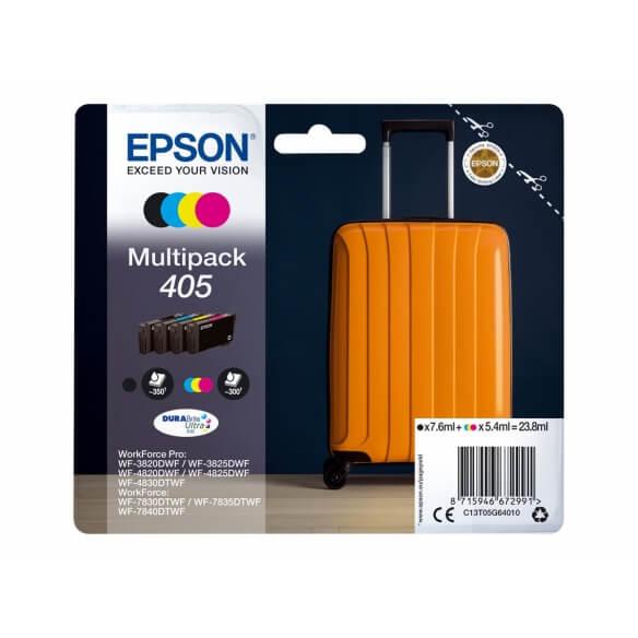 Epson 405 Multipack pack de 4 noir, jaune, cyan, magenta cartouche d'encre d'origine