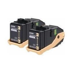 Epson AL-C9300N Double Pack cartouche de toner Noir 6500 pages x2