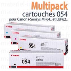 Multipack toners 4 couleurs 054 pour Canon MF645, MF643, MF641