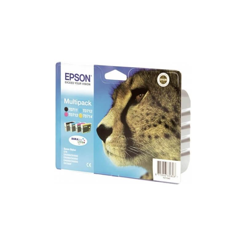 epson multipack guepard t0715 encres durabrite ultra n c m. Black Bedroom Furniture Sets. Home Design Ideas