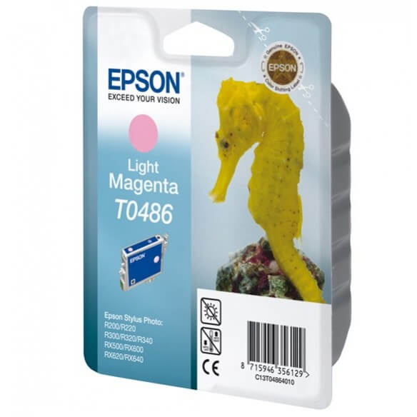 Consommable Epson T0486 'Hippocampe' - Cartouche d'encre Magenta clair 430 pages