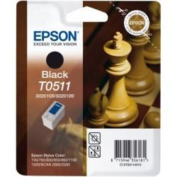 """Epson T0511 """"Echiquier"""" Cartouche noir 900 pages"""