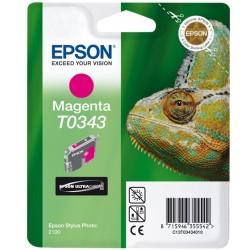 """Epson T0343 """"Caméléon"""" Cartouche d'encre pigmenté Magenta 440 pages"""