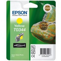 """Epson T0344 """"Caméléon"""" Cartouche d'encre pigmenté Jaune 440 pages"""