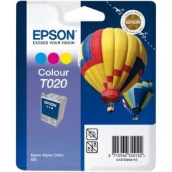 """Epson T020 """"Montgolfière"""" Pack cartouche d'encre couleur"""