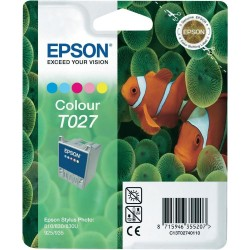 """Epson T027 """"Poisson"""" Pack cartouche d'encre couleur"""