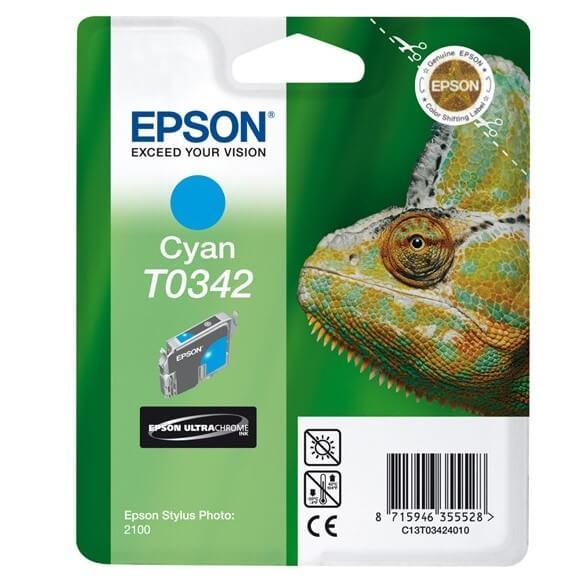 Consommable Epson T0342 'Caméléon' Cartouche d'encre Cyan