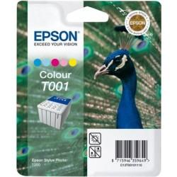 """Epson T001 """"Paon"""" Pack cartouche d'encre couleur"""