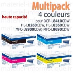 Multipack 4 couleurs hautes capacités Brother TN423 pour DCP-L8410, HL-L8260, HL-L8360, MFC-L8900,MFC-L8690