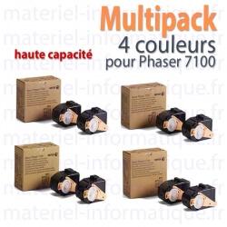 Offre : XEROX MultiPack 4 Couleurs haute capacité pour Phaser 7100