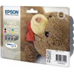 """Epson T0615 """"Ourson"""" Cartouche d'encre noir/cyan/magenta/jaune"""