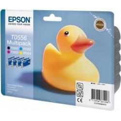 """Epson T0556 """"Canard"""" Pack Cartouche d'encre couleur"""