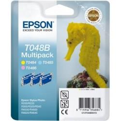 """Epson T048B Triple pack """"Hippocampe"""" Pack Cartouche d'encre couleur"""