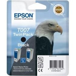 """Epson T007Double pack """"Aigle"""" Cartouche d'encre noir"""