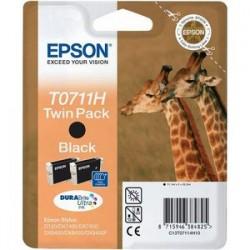 """Epson T0711H Double pack """"Girafe"""" Cartouche d'encre noir"""