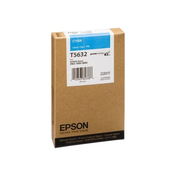 Consommable Epson Encre Pigment Cyan (220ml)