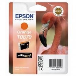 """Epson T0879 """"Flamand Rose"""" Cartouche d'encre Orange"""