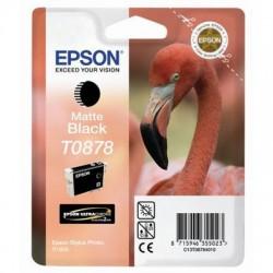 """Epson T0878 """"Flamand Rose"""" Cartouche d'encre Noir mat"""