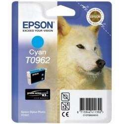 """Epson T0962 """"Loup"""" Cartouche d'encre cyan"""