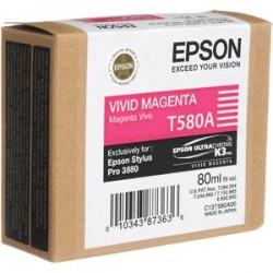 Epson T580A Cartouche d'encre Magenta vif