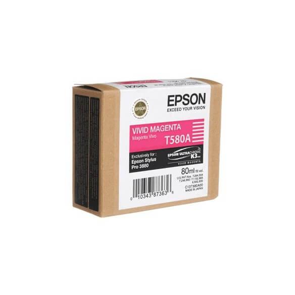 Consommable Epson T580A Cartouche d'encre Magenta vif