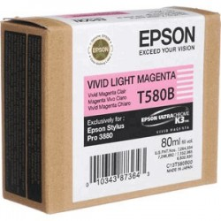 Epson T580b Cartouche d'encre Magenta Clair vif