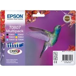 Epson T0807 Multipack de cartouche couleurs