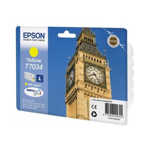 Consommable Epson T7034 Cartouche d'encre Jaune