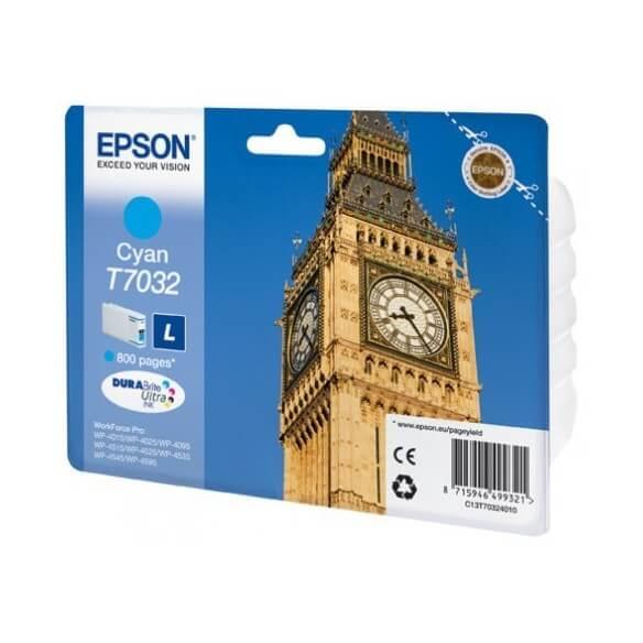 Consommable Epson T7032 Cartouche d'encre Cyan