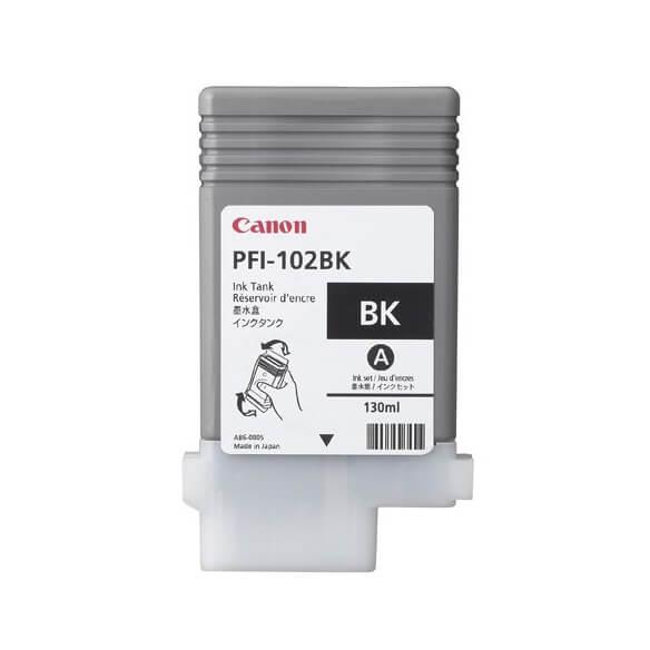 Consommable Canon PFI-102BK Encre Pigment Noir (130ml)